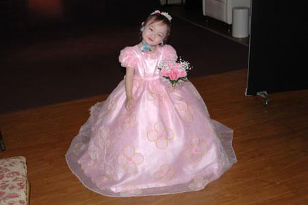 ピンクのドレス