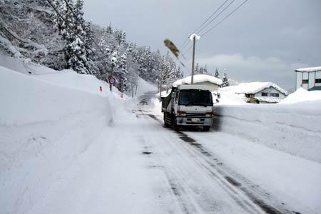 このシーズンは雪が多かった