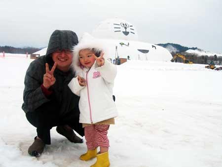 日本一の雪だるま