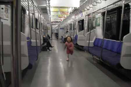 帰りの電車で