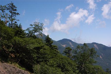 一番左が女峰山