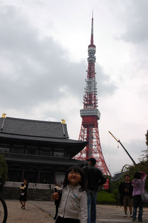 増上寺と東京タワーとしゅり