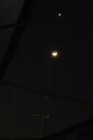 上から金星、月、木星です