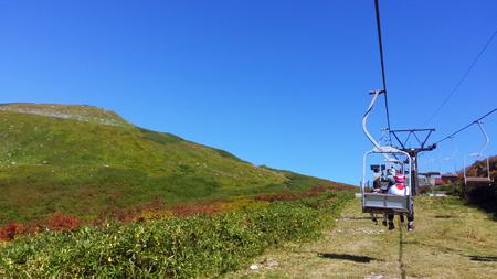 リフトから眺める姥ヶ岳